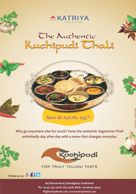 Katriya Is Offering The Authentic Kuchipudi Thali In Restaurant For Bringing Deliciousness Of Telugu Cuisine To Andhra Pradesh Food