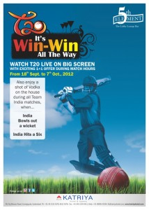 T20 Live Cricket Match on Big Screen