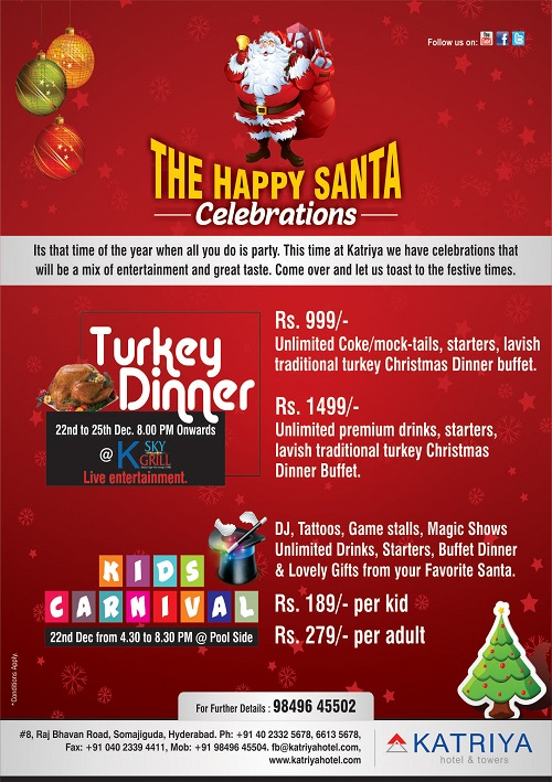 The Happy Santa Celebrations @ Katriya Hotel and Towers