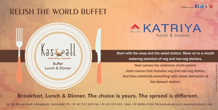 May Offer - Buffet Lunch and Dinner in Hyderabad at Kasuall Restaurant